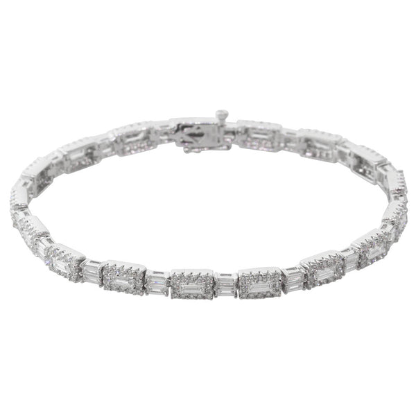 18ct White Gold 3.96ct Diamond Bracelet - Walker & Hall