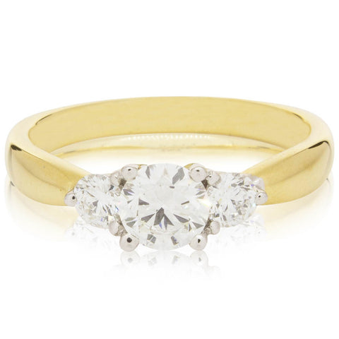 18ct Yellow Gold .50ct Diamond Elysian Ring - Walker & Hall