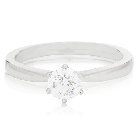 Platinum .50ct Diamond Nova Ring - Walker & Hall
