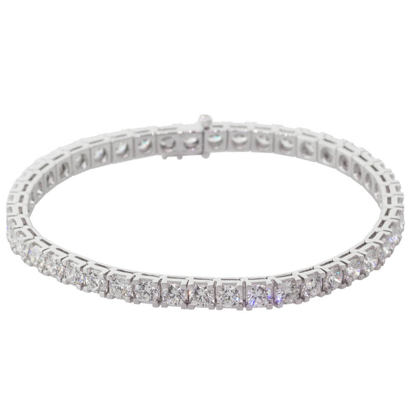 18ct White Gold 8.93ct Diamond Jubilee Bracelet - Walker & Hall
