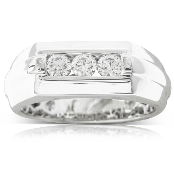 18ct White Gold .55ct Diamond Men's Ring - Walker & Hall