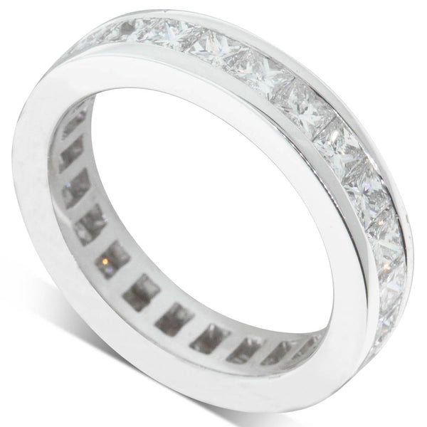 18ct White Gold 2.45ct Diamond Eternity Ring - Walker & Hall