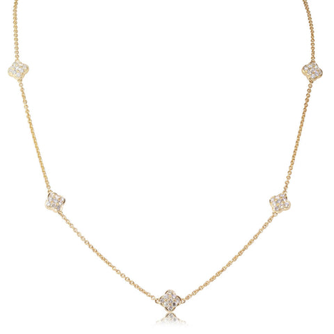 18ct Yellow Gold 1.19ct Diamond Necklace - Walker & Hall