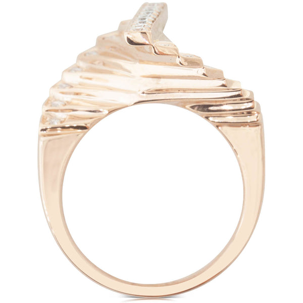 18ct Rose Gold .44ct Diamond Cluster Ring - Walker & Hall