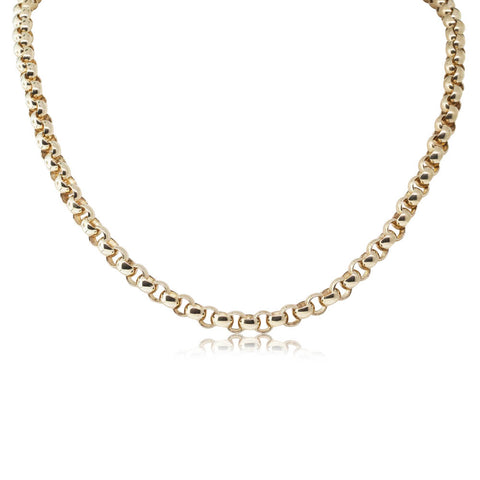 Deja Vu 9ct Yellow Gold Belcher Necklace - Walker & Hall