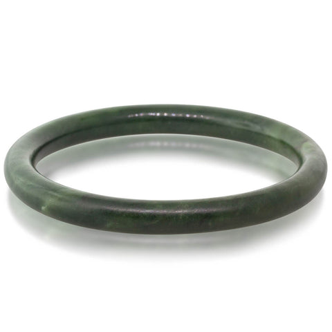 Vintage Greenstone Bangle - Walker & Hall