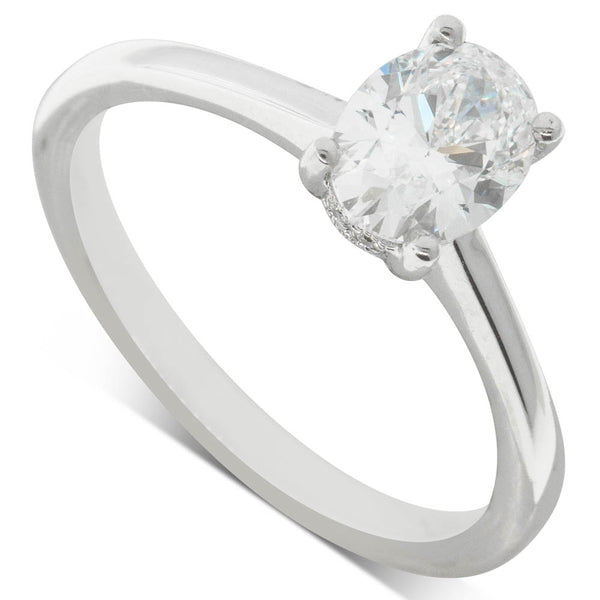 18ct White Gold 1.00ct Diamond Solitaire Ring - Walker & Hall