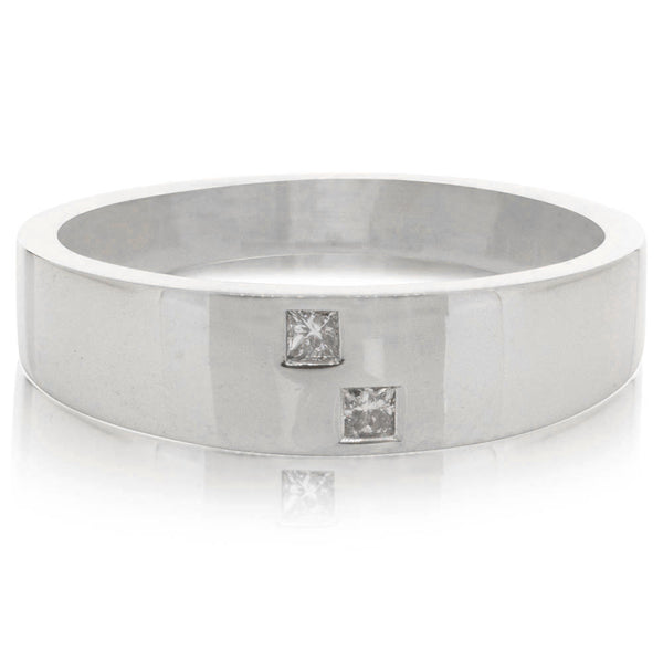 Deja Vu 10ct White Gold Diamond Band - Walker & Hall
