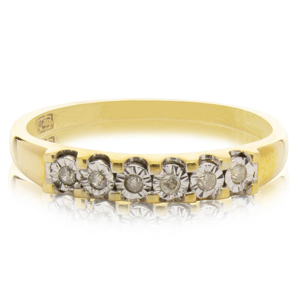 Deja Vu 9ct Yellow Gold Diamond Band - Walker & Hall
