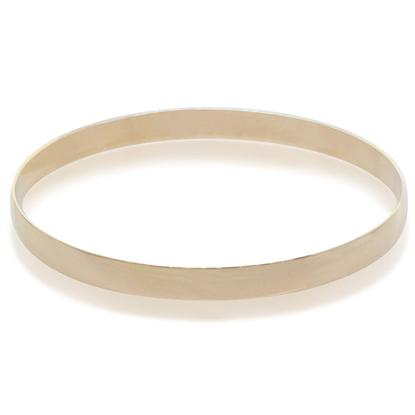 Deja Vu 9ct Yellow Gold Bangle - Walker & Hall