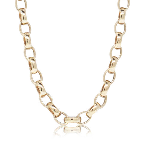 Deja Vu 9ct Yellow Gold Oval Belcher Chain - Walker & Hall