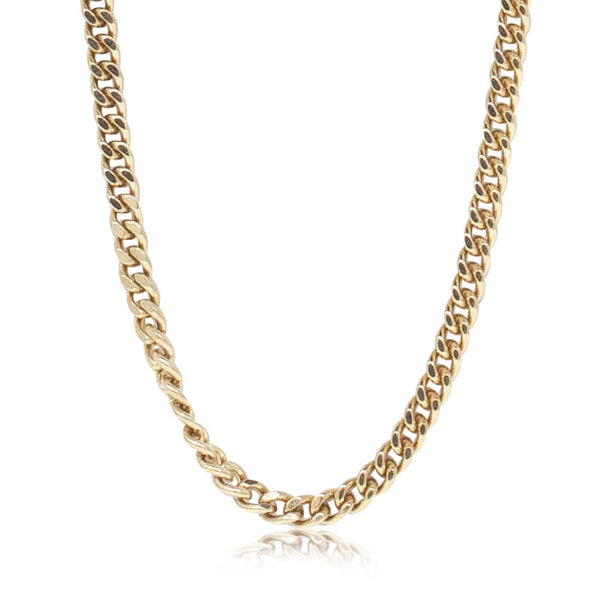 Deja Vu 9ct Yellow Gold Curb Chain - Walker & Hall