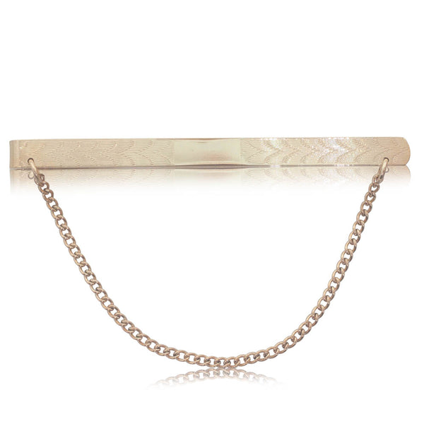 Deja Vu 9ct Yellow Gold Plated Tie Clip - Walker & Hall