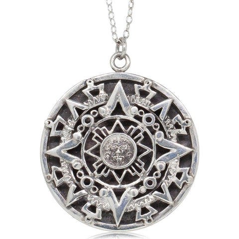 Deja Vu Sterling Silver Patterned Pendant - Walker & Hall
