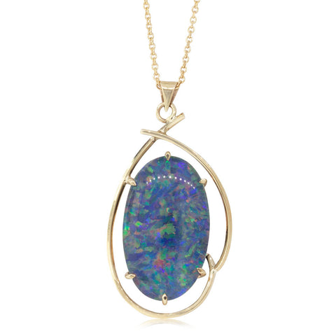 Deja Vu 9ct Yellow Gold Opal Triplet Pendant - Walker & Hall