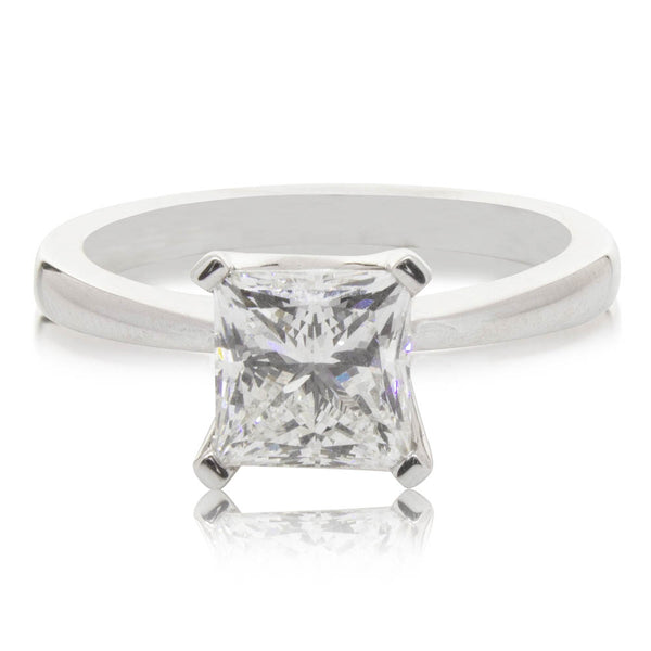 18ct White Gold 1.81ct Diamond Royale Ring - Walker & Hall