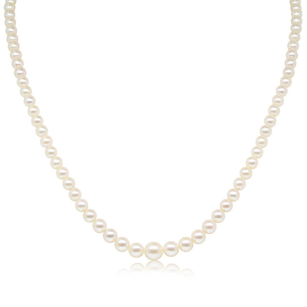Deja Vu Sterling Silver Pearl Strand - Walker & Hall