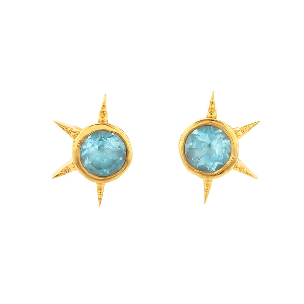 Zoe & Morgan Summer Of Love Earrings - Gold Plated - Walker & Hall