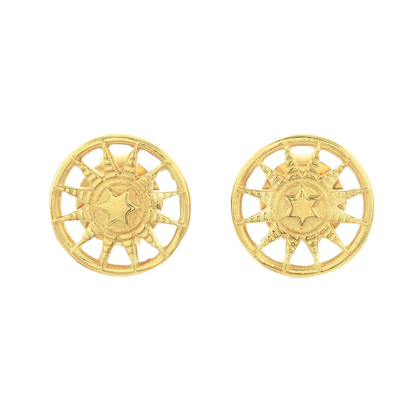 Zoe & Morgan Child Of The Sun Earrings - Gold Plated - Walker & Hall