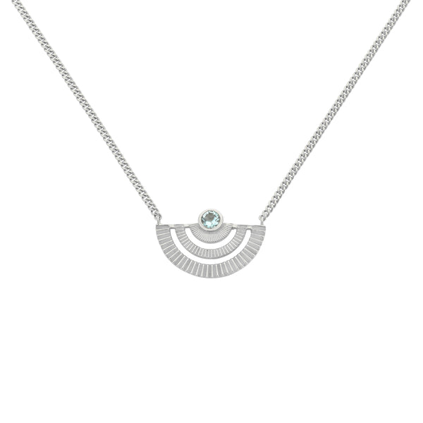 Zoe & Morgan Golden Hour Necklace - Sterling Silver - Walker & Hall