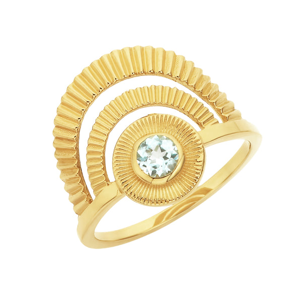 Zoe & Morgan Golden Hour Ring - Gold Plated - Walker & Hall