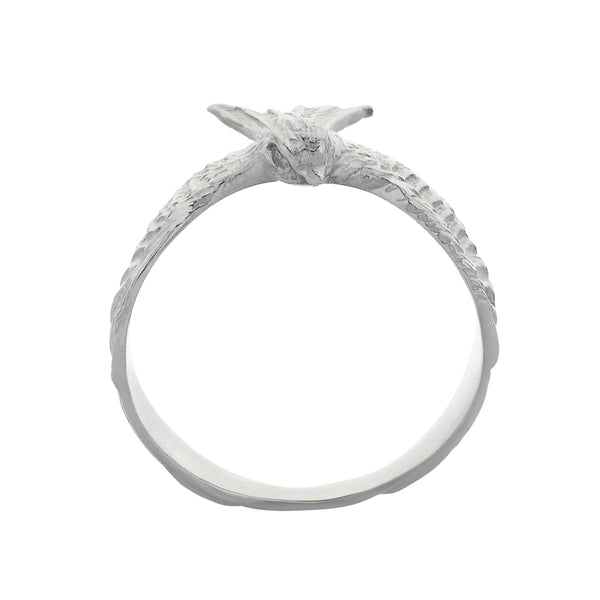Zoe & Morgan Lover Ring - Sterling Silver - Walker & Hall