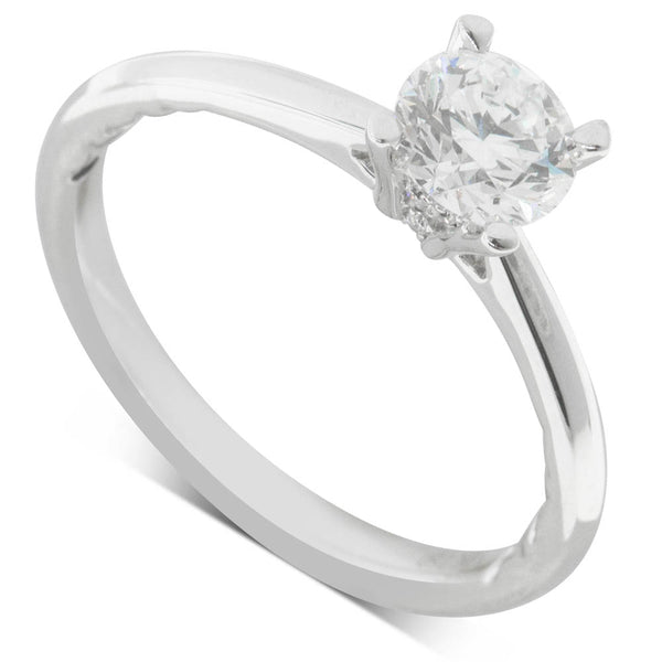 18ct White Gold .74ct Flawless Diamond Ring - Walker & Hall