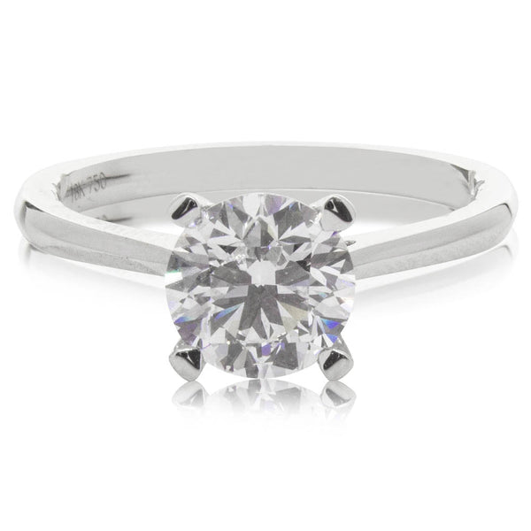 18ct White Gold 1.50ct Flawless Diamond Ring - Walker & Hall