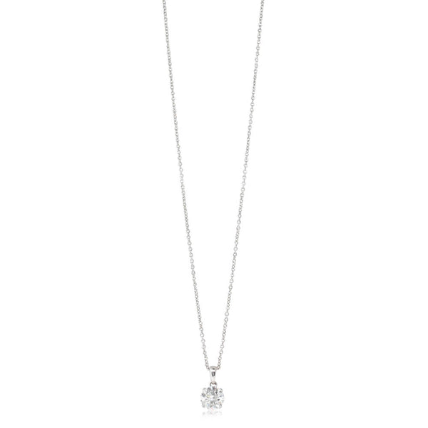 18ct White Gold 1.08ct Diamond Blossom Pendant - Walker & Hall