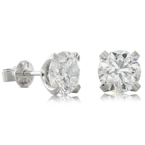 18ct White Gold 4.00ct Diamond Blossom Earrings - Walker & Hall
