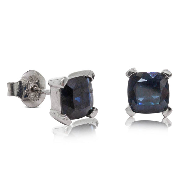 Deja Vu 9ct White Gold 2.70ct Sapphire Studs - Walker & Hall