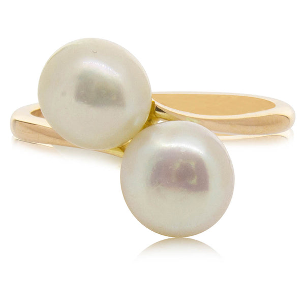 Deja Vu 9ct Rose Gold Freshwater Pearl Ring - Walker & Hall
