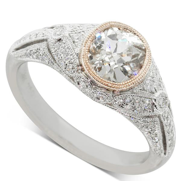 Deja Vu 18ct White & Rose Gold 1.10ct Diamond Ring - Walker & Hall