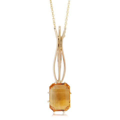 Deja Vu 9ct Yellow Gold Citrine Pendant - Walker & Hall