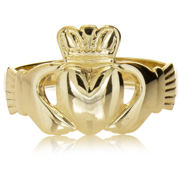 Deja Vu 9ct Yellow Gold Claddagh Ring - Walker & Hall