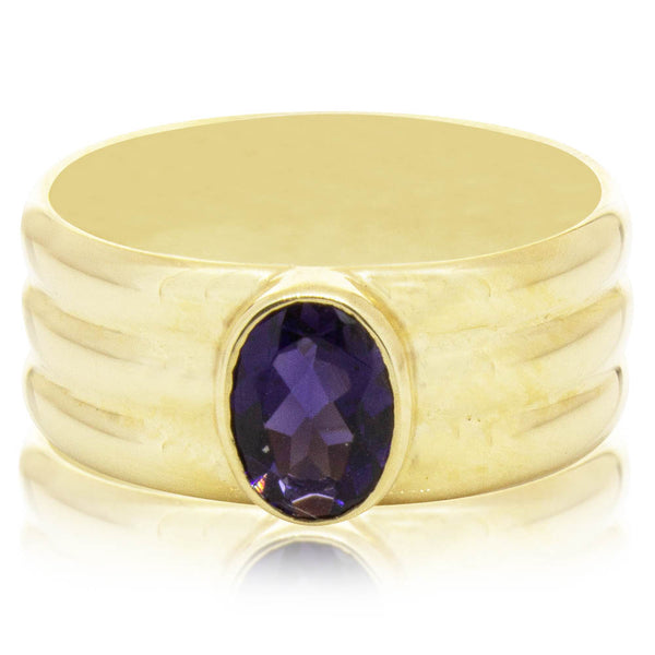 Deja Vu 9ct Yellow Gold Iolite Ring - Walker & Hall