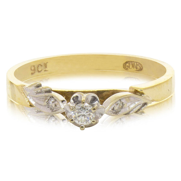 Deja Vu 9ct Yellow & White Gold Diamond Ring - Walker & Hall