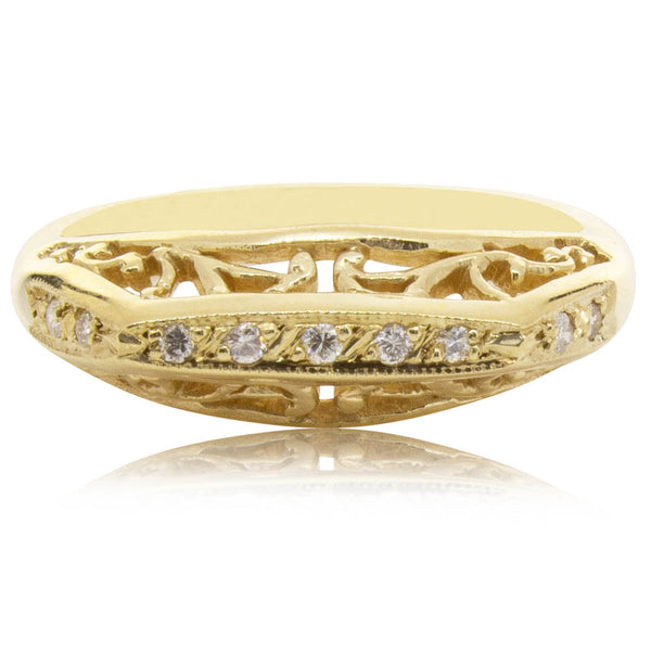 Deja Vu 9ct Yellow Gold Diamond Ring - Walker & Hall