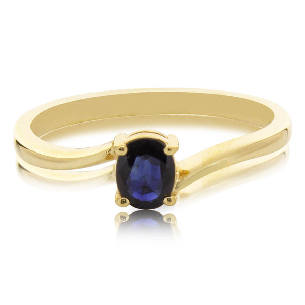Deja Vu 9ct Yellow Gold Sapphire Ring - Walker & Hall