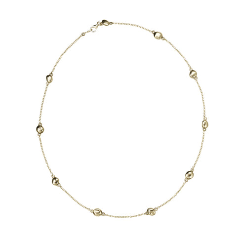 Meadowlark Pebble Chain Necklace - Gold Plated - Walker & Hall