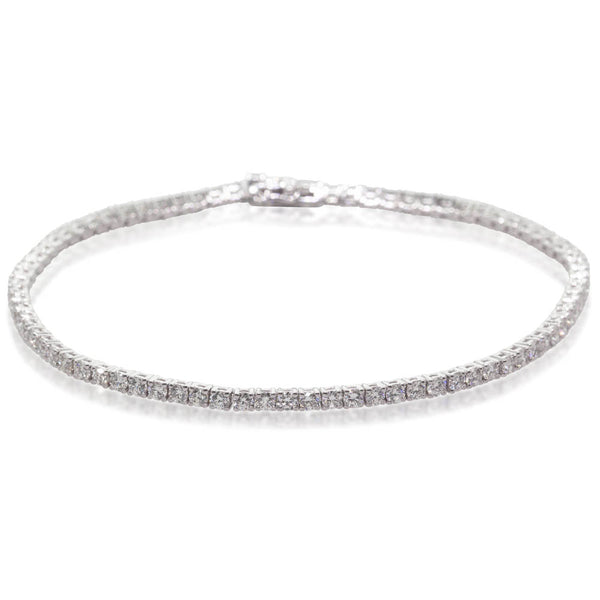 18ct White Gold 3.01ct Diamond Jubilee Bracelet - Walker & Hall