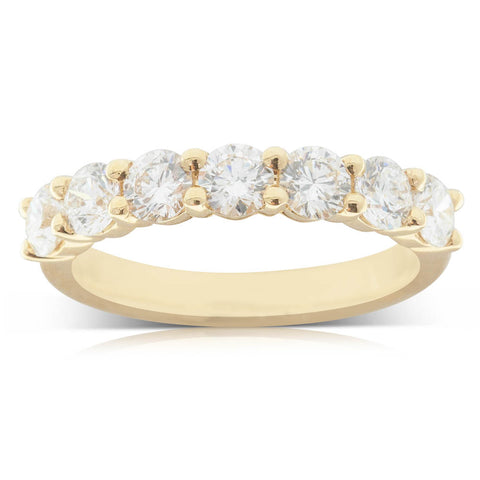 18ct Yellow Gold 1.36ct Diamond Panorama Ring - Walker & Hall