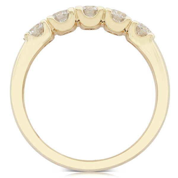 18ct Yellow Gold 1.00ct Diamond Rialto Ring - Walker & Hall