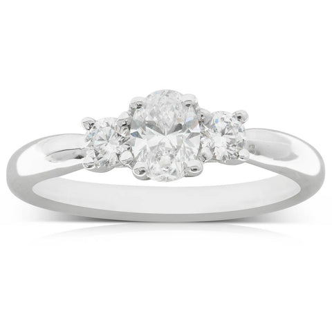 18ct White Gold .50ct Diamond Ring - Walker & Hall