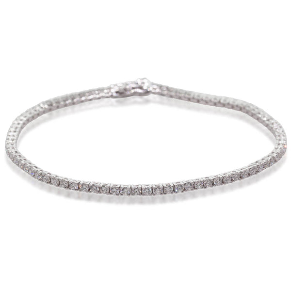 18ct White Gold 2.40ct Diamond Jubilee Bracelet - Walker & Hall