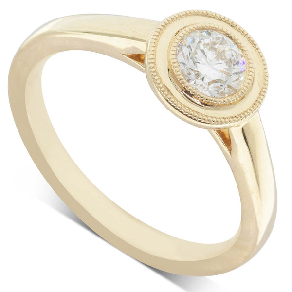 18ct Yellow Gold .50ct Diamond Windsor Ring - Walker & Hall