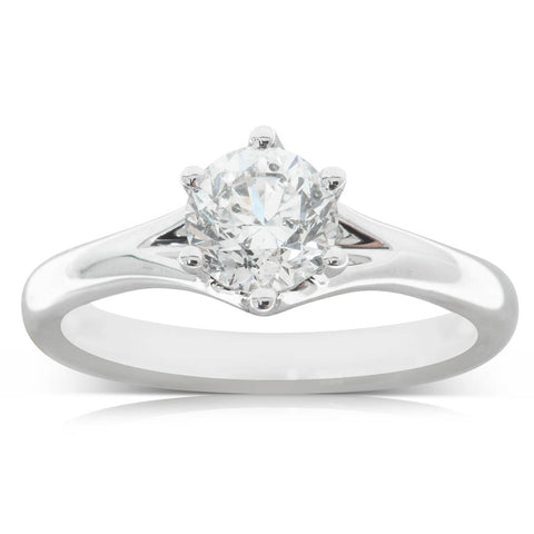 18ct White Gold 1.04ct Diamond Grace Ring - Walker & Hall