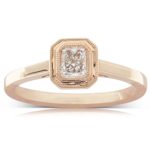 18ct Rose Gold .38ct Diamond Windsor Ring - Walker & Hall