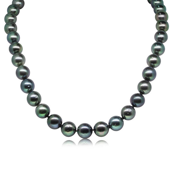9ct White Gold Black Pearl Strand - Walker & Hall