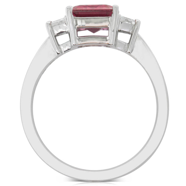 18ct White Gold 2.38ct Tourmaline & Diamond Ring - Walker & Hall